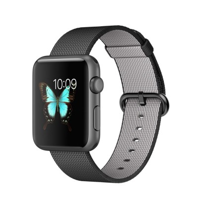 Apple Watch Sport 42 mm Space Gray Aluminum Case s Black Woven Nylon (RASPRODANO)