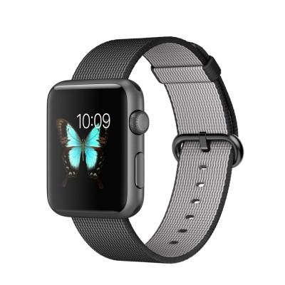 Apple Watch Sport 42 mm Space Gray Aluminum Case s Black Woven Nylon (RASPRODANO)
