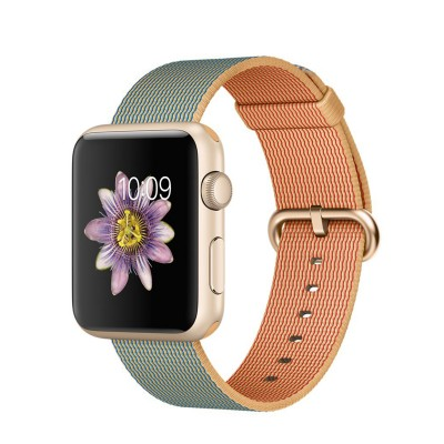 Apple Watch Sport 42 mm Gold Aluminum Case s Gold/Royal Blue Woven Nylon (RASPRODANO)