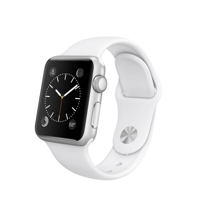 Apple Watch Sport 38 mm Silver Aluminum Case s White Sport Band