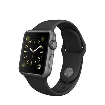 Apple Watch Sport 38 mm Space Gray Aluminum Case s Black Sport Band