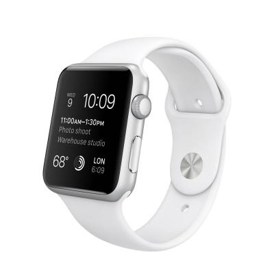 Apple Watch Sport 42 mm Silver Aluminum Case s White Sport Band