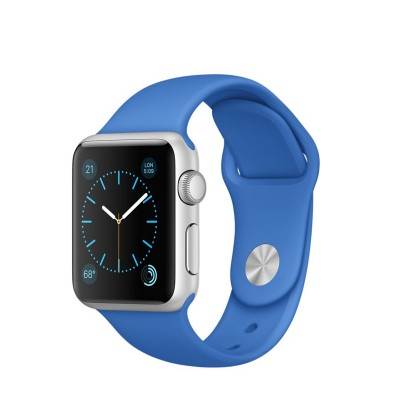 Apple Watch Sport 38 mm Silver Aluminum Case s Royal Blue Sport Band