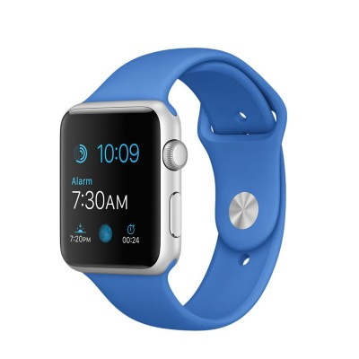 Apple Watch Sport 42 mm Silver Aluminum Case s Royal Blue Sport Band