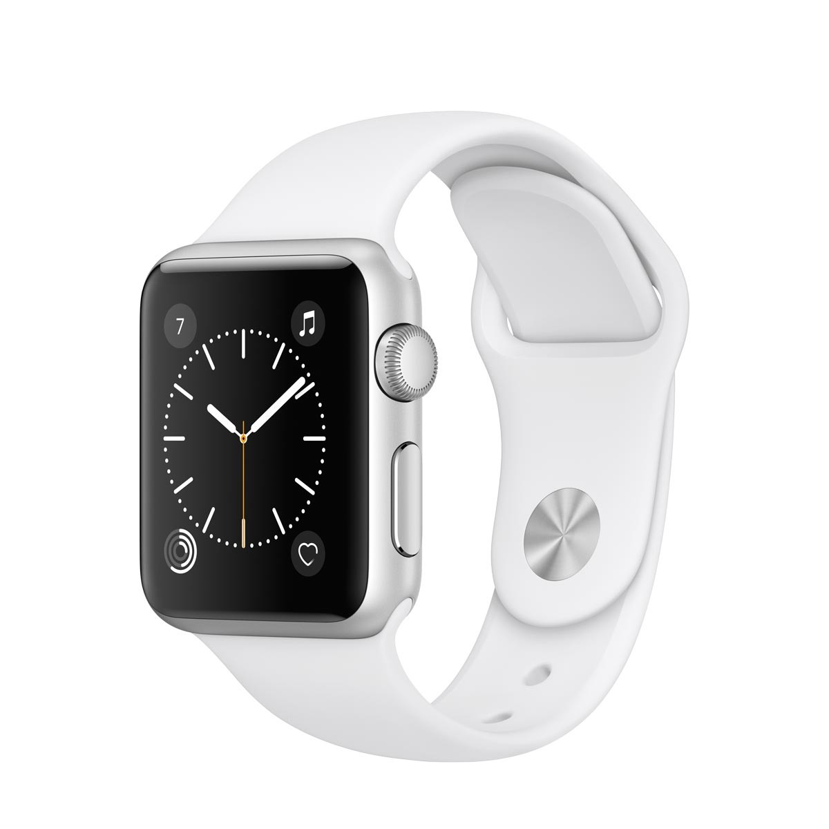 Apple Watch Series 1 - 38 mm Silver Aluminium Case s White Sport Band