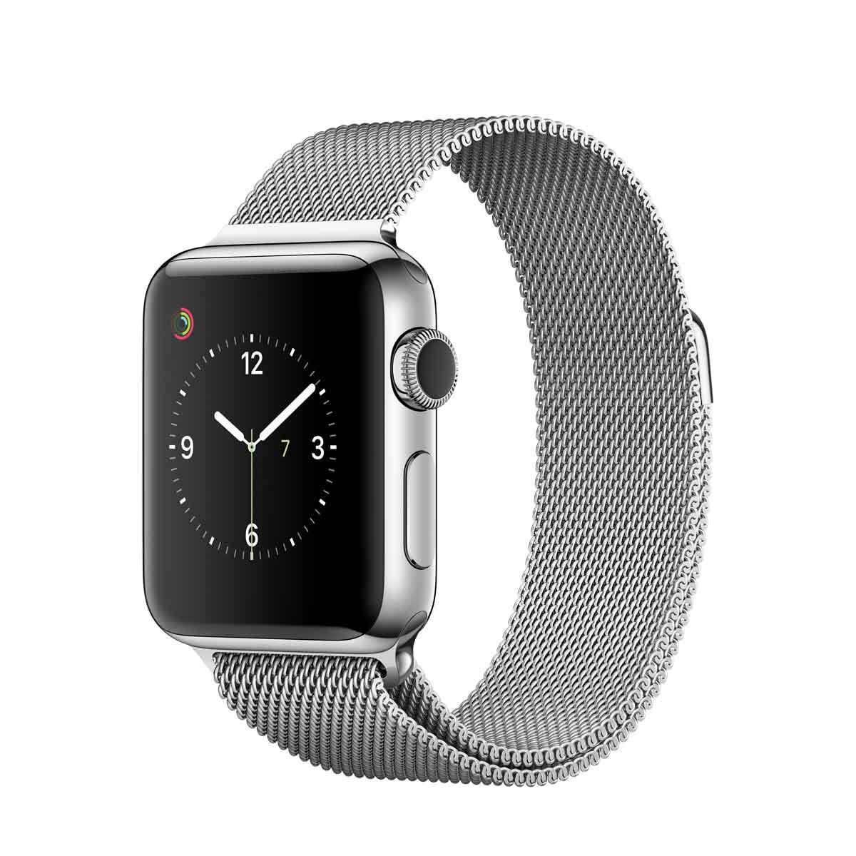 Apple Watch Series 2 - 38mm Stainless Steel Case sa Silver Milanese Loop