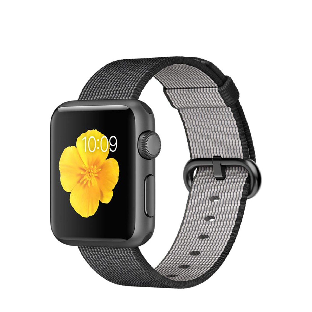 Apple Watch Sport 38 mm Space Gray Aluminum Case s Black Woven Nylon