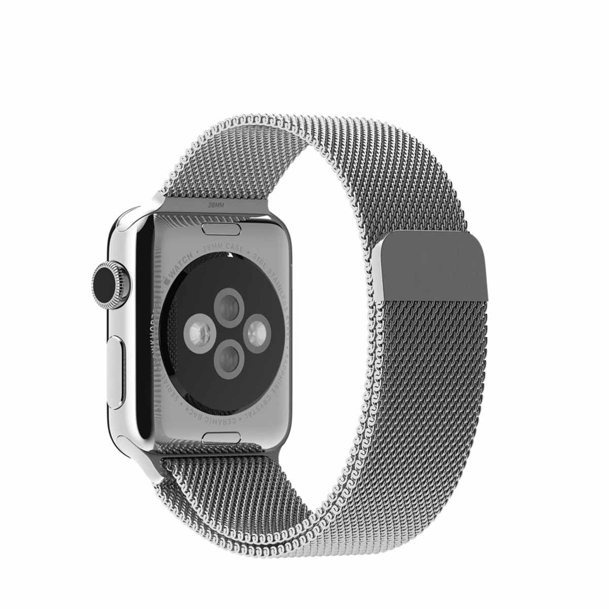 Apple 38 mm Milanese Loop - Srebrna