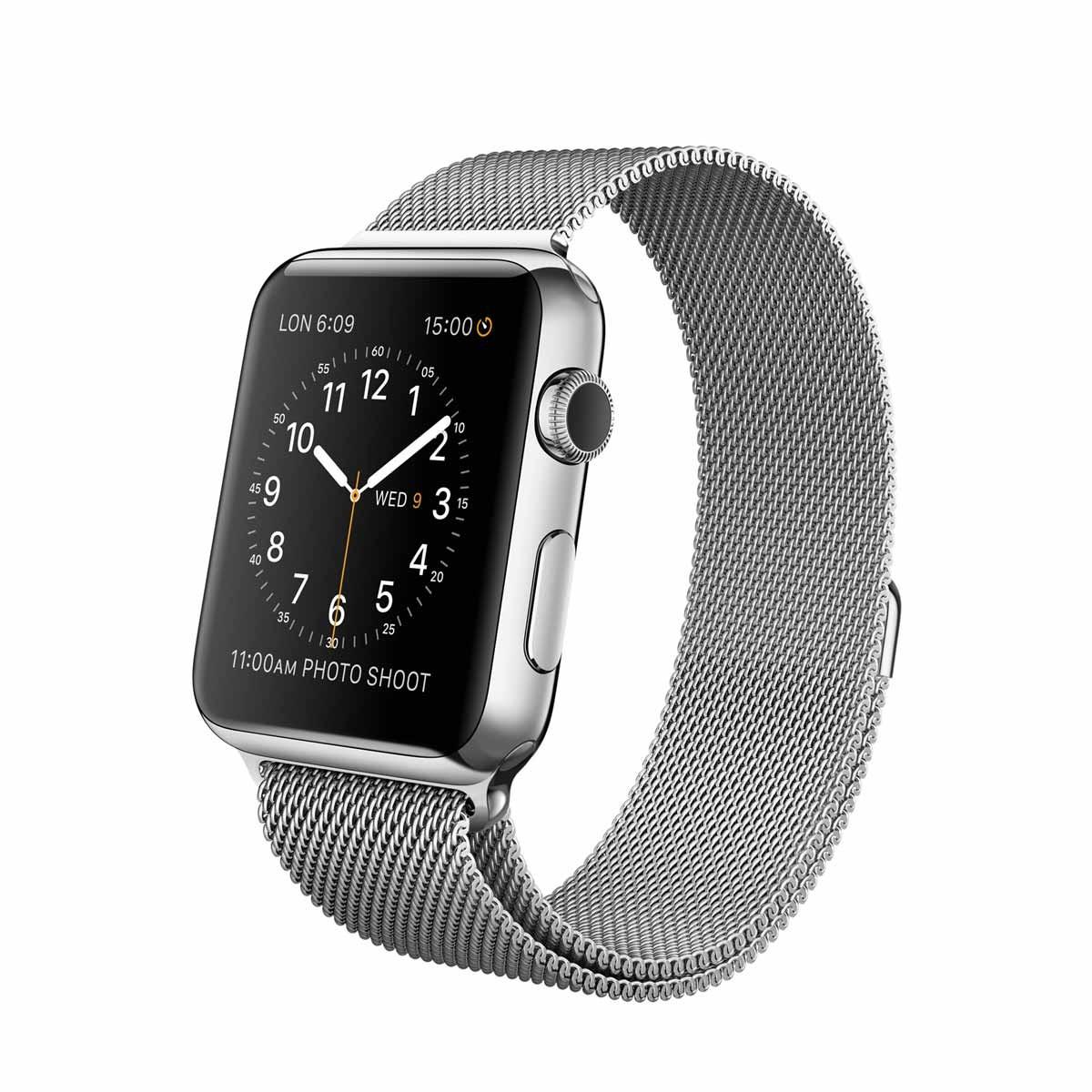 Apple Watch 42 mm Stainless Steel Case s Milanese Loop
