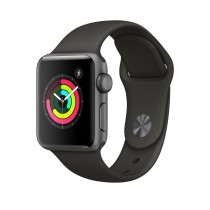 Apple Watch Series 3 - Space Gray Aluminum Case with Gray Sport Band