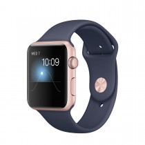 Apple Watch Series 2 - 42mm Rose Gold Aluminium Case s Midnight Blue Sport Band