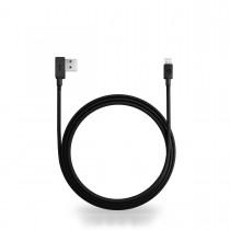 Nonda 180° ZUS Lightning Kevlar kabel (1.2m) - Crna