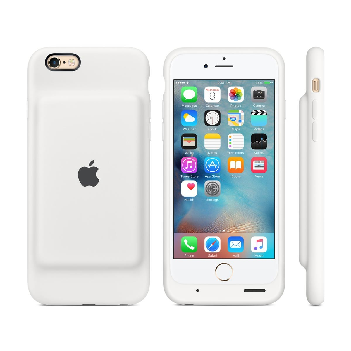 apple iphone 6 6s smart battery case white istyle. Black Bedroom Furniture Sets. Home Design Ideas