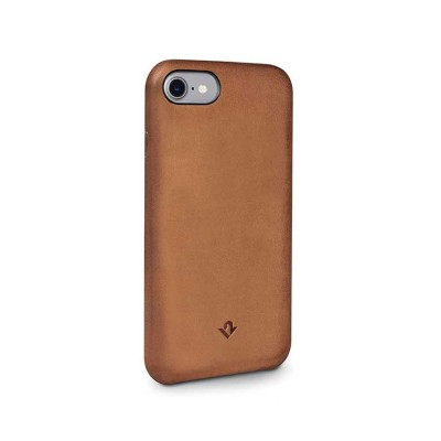 TwelveSouth Relaxed Leather Clip for iPhone 7/8 - Cognac