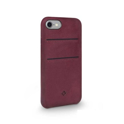 (EOL) TwelveSouth Relaxed Leather Clip (with pockets) for iPhone 7/8 - Marsala