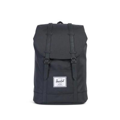 Herschel Retreat Backpack (Black Synthetic Leather) - Black