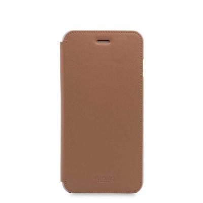 (EOL) Knomo Leather Folio for iPhone 7 Plus/8 Plus - Caramel