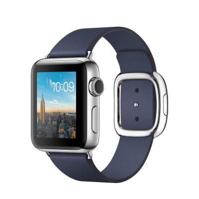 Apple Watch Series 2 38mm Stainless Steel Case with Midnight Blue Modern Buckle