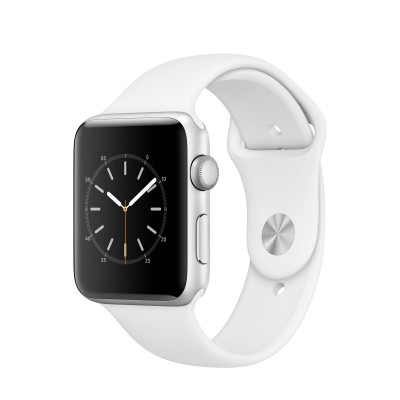 Apple Watch Series 2 Silver Aluminium Case with White Sport Band