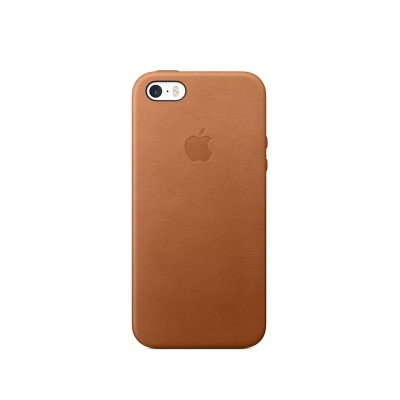 Apple Leather Case for iPhone SE - Saddle Brown