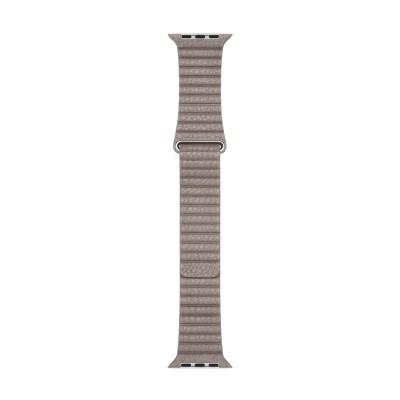 (EOL) Apple Watch 42mm Loop: Leather (M) - Smoke Grey (curea)