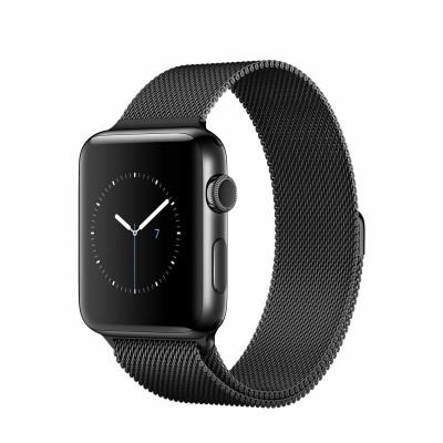Apple Watch Series 2 Stainless Steel Case with Milanese Loop Space Black