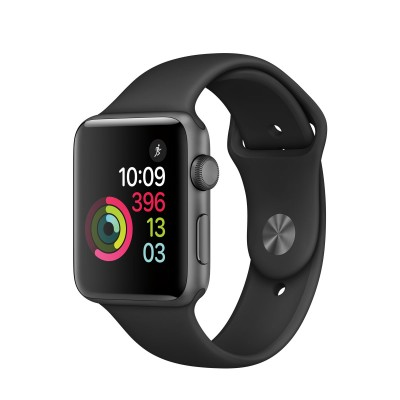 Apple Watch Series 2 Space Grey Aluminium Case with Black Sport Band