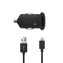 Just Wireless USB Car Charger (lightning connector) - Black