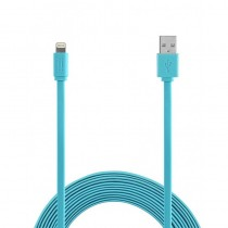 Aiino Lightning cable MFI Flat (1.2m) - Blue