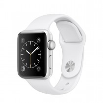 Apple Watch Series 2 Aluminium Case with Sport Band White (38mm) - Silver