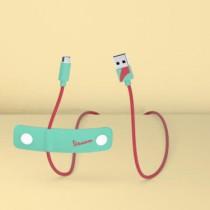Tribe Vespa Micro USB Cable (120cm) - Acquamarine