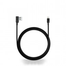 Nonda ZUS 90° Lightning Kevlar Cable (1.2m) - Black