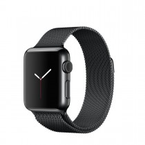 Apple Watch Space Black Stainless Steel Case with Space Black Milanese Loop (38mm)