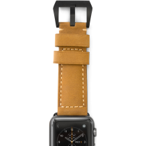 Nomad Rugged Leather strap for Apple Watch 42mm - Tan/ Space gray