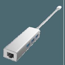 DEVIA USB-C to USB HUB + Ethernet Port