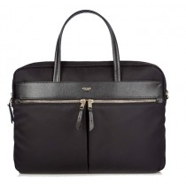 "Knomo HANOVER Slim Briefcase 14"" - Black"