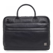 Knomo FOSTER Leather Briefcase 15inch - Black