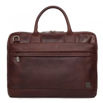 Knomo FOSTER Leather Briefcase 15inch - Brown