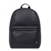 Knomo ALBION Leather laptop backpack - Black