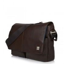 "Knomo Kobe Soft Leather Messenger Bag 15"""