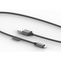 Griffin USB to Lightning Cable, Premium, 5ft- Gray