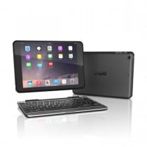 ZAGG - Slim Book Case with Keyboard UK Apple iPad Mini 4 - Black Case - Black