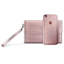 Puro Metal Duo Case за iPhone 7: Rose Gold