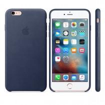 Apple - iPhone 6s Plus Leather Case - Midnight Blue