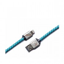 PlusUs LifeStar Premium Handcrafted USB Charge & Sync cable (1m) Lightning - Turquoise / Light Gold