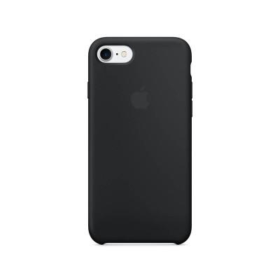 Черен силиконов кейс за Apple iPhone 7 Silicone Case