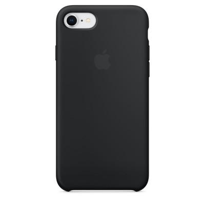 Черен силиконов кейс Apple за iPhone 8 / 7 - Black