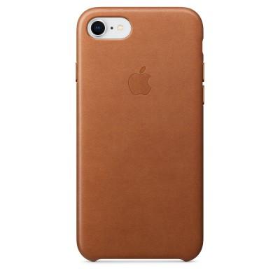 Кафяв кожен кейс Apple за iPhone 8 / 7 - Saddle Brown
