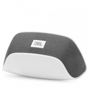 Бяла безжична портативна колонка JBL