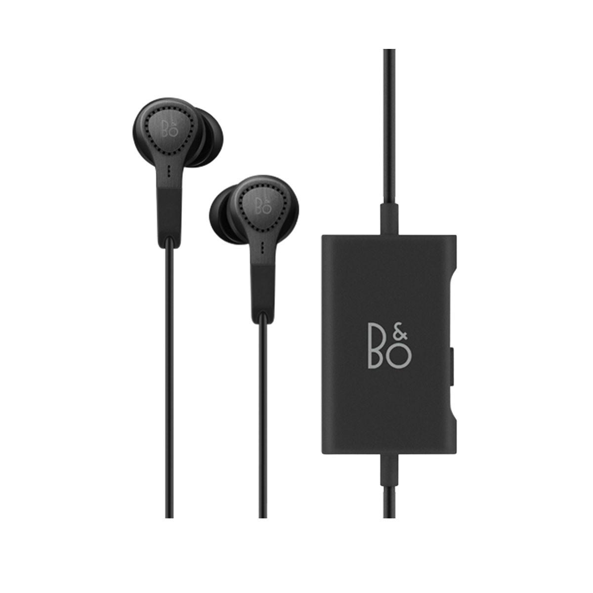 Черни слушалки тип тапи Beoplay E4 от B&O